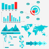 Graphiques d'infos, graphiques de gestion Photographie stock libre de droits