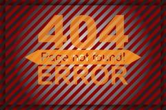 Graphiques de calibre de page d'erreur Photographie stock