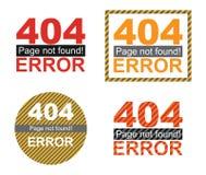 Graphiques de calibre de page d'erreur Photo stock