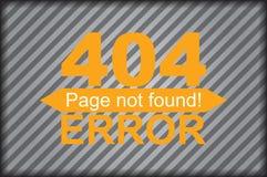 Graphiques de calibre de page d'erreur Image stock