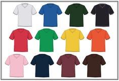 Graphiques de conception de décolleté en V de T-shirt de calibre, Photographie stock libre de droits