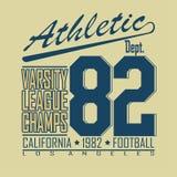 Graphiques de conception de mode de T-shirt du football - Photo stock