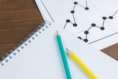Graphiques de dessin d'affaires Photographie stock libre de droits