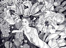 Graphiques de fée de fleur Photos libres de droits