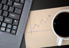 Graphiques de finances d'affaires de retrait Images stock