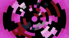 Graphiques de fractale Cercles de rose, pourpres, blocs de noir Images libres de droits