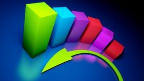 Graphiques de gestion Photo stock