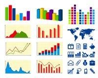 Graphiques de gestion Images libres de droits