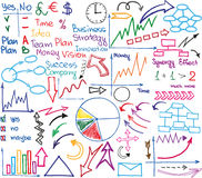 Graphiques de gestion Images stock