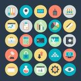 Graphiques de gestion, Analytics et icônes 2 de vecteur d'investissement image libre de droits