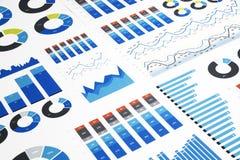 Graphiques de gestion colorés image stock