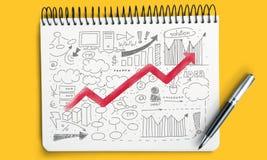 Graphiques de gestion et diagrammes, fond d'affaires dessus Photo libre de droits