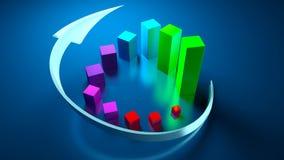 Graphiques de gestion et indicateurs de devise Photographie stock libre de droits