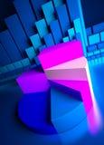 Graphiques de gestion et indicateurs de devise Photos libres de droits