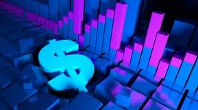 Graphiques de gestion et indicateurs de devise Image stock