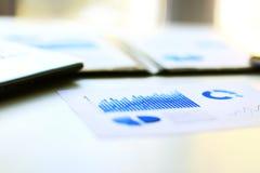 Graphiques de gestion financière Images libres de droits