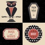 Graphiques de hibou de Halloween réglés Photo libre de droits