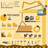 Graphiques de l'information de construction, éléments de construction Image libre de droits