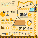 Graphiques de l'information de construction, éléments de construction Images libres de droits