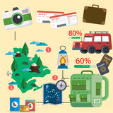 Graphiques de l'information de voyage Images libres de droits