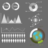 Graphiques de l'information, graphique de gestion Photos libres de droits