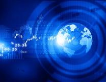 Graphiques de marché boursier Images stock