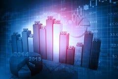 Graphiques de marché boursier Photo stock