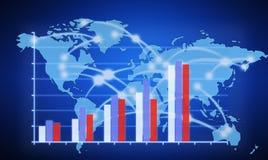 Graphiques de planification d'investissement productif Image libre de droits