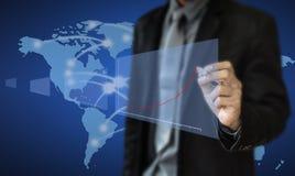 Graphiques de planification d'investissement productif Image stock