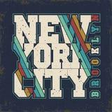 Graphiques de T-shirt de Brooklyn Photo stock