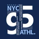 Graphiques de T-shirt de Brooklyn illustration libre de droits
