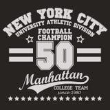 Graphiques de T-shirt de Manhattan Photographie stock libre de droits