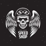 Graphiques de T-shirt de moto de vintage Illustration de vecteur illustration de vecteur