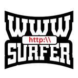 Graphiques de T-shirt de surfer de WWW illustration de vecteur