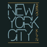 Graphiques de typographie de New York City, conception d'impression de T-shirt Usage original de New York City, Brooklyn Photographie stock libre de droits