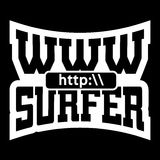 Graphiques de typographie de T-shirt de surfer de WWW Photo stock