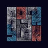 Graphiques de typographie de vedette du rock avec l'effet grunge Photographie stock