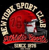 Graphiques de vecteur de graphiques de T-shirt de fac de football américain et t Photos stock