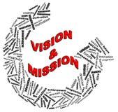 Graphiques des textes d'information de VISION et de MISSION illustration stock