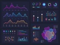 Graphiques et diagramme de technologie avec des options et des diagrammes de déroulement des opérations Éléments infographic de p Images stock
