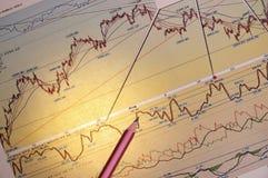 Graphiques et diagrammes photo stock