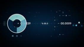 Graphiques et données dépistant le bleu illustration de vecteur