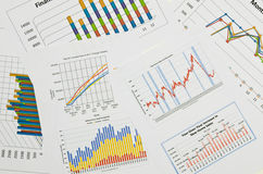 Graphiques et graphiques de gestion Images libres de droits
