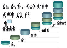 Graphiques et icônes de gestion illustration de vecteur