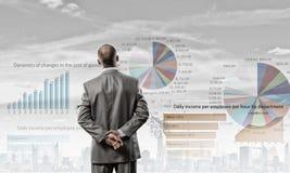 Graphiques et stratégie commerciale photo stock