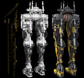 Graphiques robotiques de torse illustration libre de droits