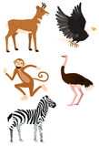 Graphisme #2 réglé d'animaux sauvages Images stock