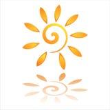 Graphisme abstrait du soleil Photographie stock libre de droits