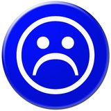 Graphisme bleu avec le symbole du visage triste Illustration Stock