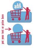 Graphisme bleu d'achat illustration libre de droits
